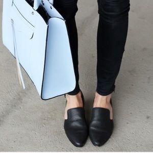 Madewell Shoes - Madewell black leather D'orsay loafers